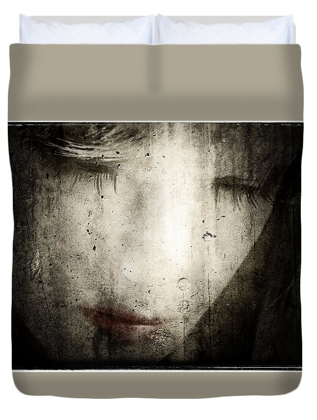 Asian Duvet Cover featuring the photograph Untitled by Jeff Hummel