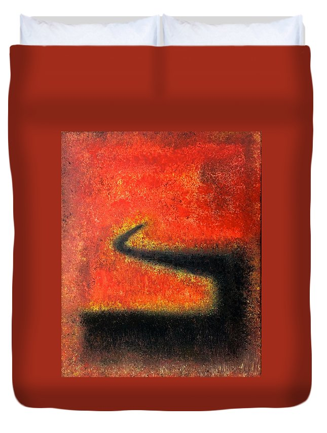Abstract Duvet Cover featuring the painting Untitled by Lou Tiberi