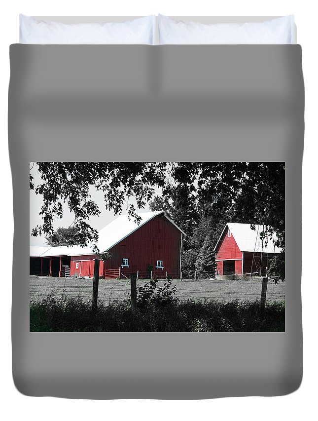 Agriculture Duvet Cover featuring the photograph Untitled by Rich Mengel