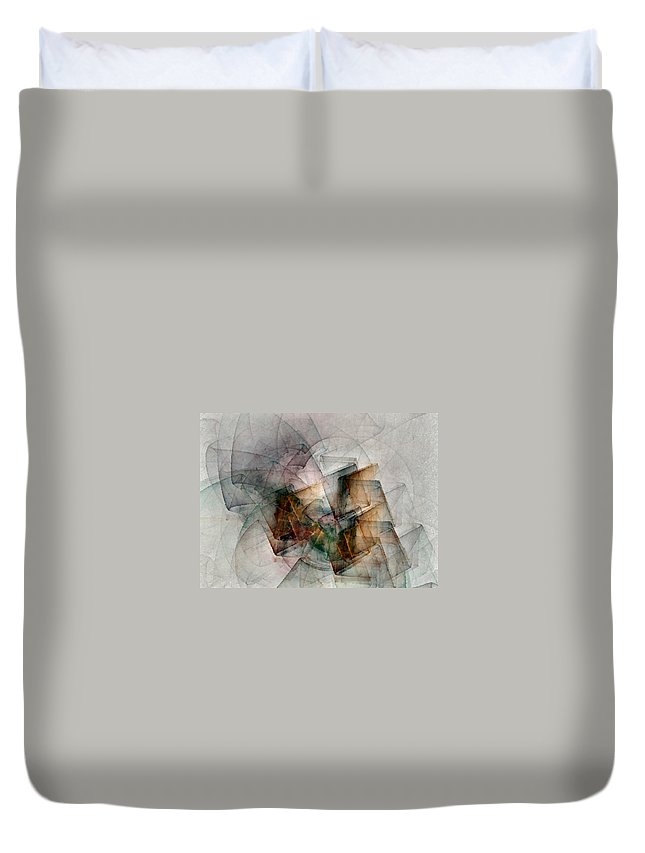 Study Duvet Cover featuring the digital art Untitled Study No. 705 by NirvanaBlues