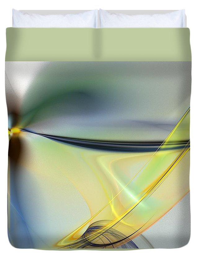 Digital Painting Duvet Cover featuring the digital art Untitled4-14-10-d by David Lane