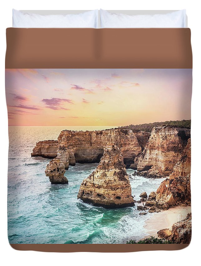 Kremsdorf Duvet Cover featuring the photograph Unto Infinite Twilight by Evelina Kremsdorf
