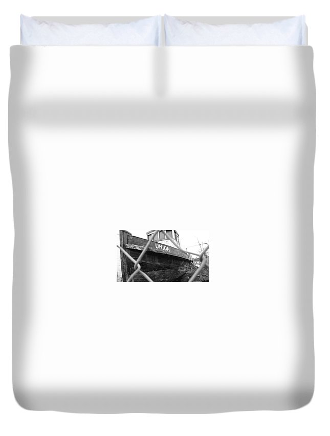 Old Boats Duvet Cover featuring the photograph Untouchable by Constance Lang