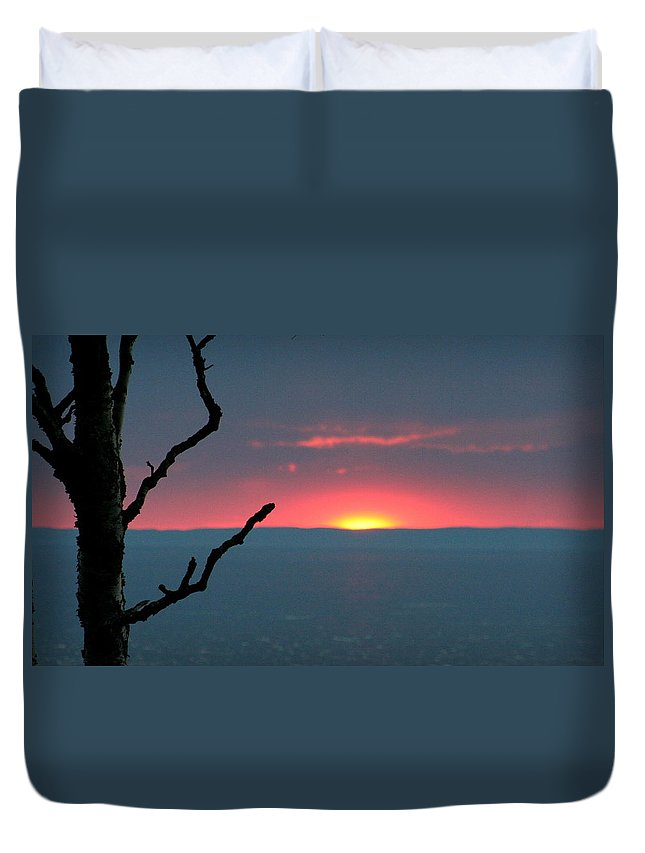 Sunset Duvet Cover featuring the photograph Untouched Beauty by Sue Long
