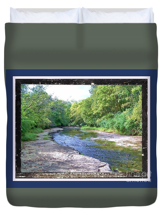Duvet Cover featuring the photograph Up A Creek by Shirley Moravec