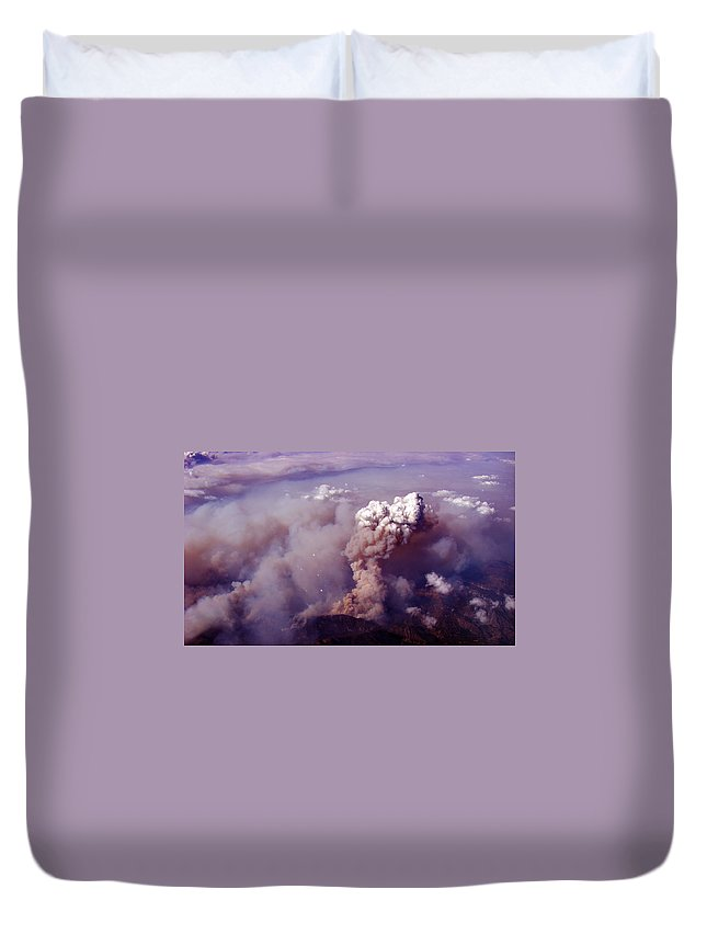 Duvet Cover featuring the photograph Up In Smoke.. Socal Style by Strato ThreeSIXTYFive