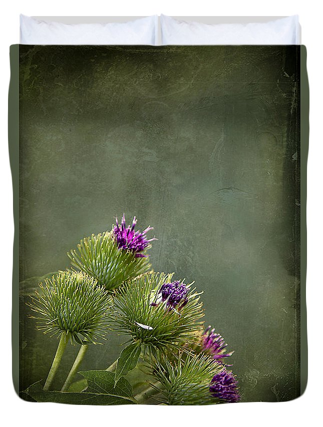 Texture Duvet Cover featuring the photograph Up To The Point by Evelina Kremsdorf