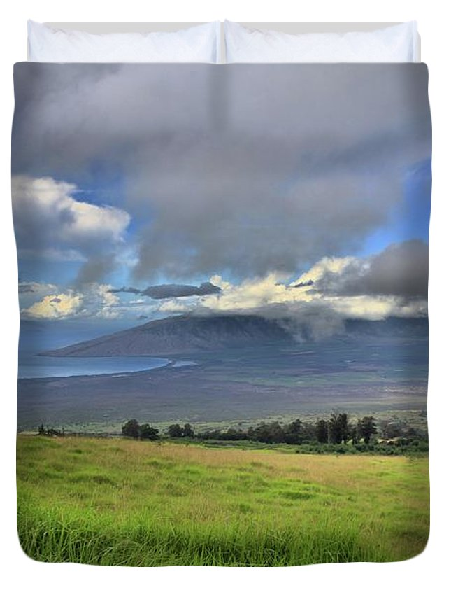 Maui Duvet Cover featuring the photograph Upcountry Maui by DJ Florek