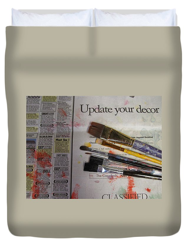 Brushes Duvet Cover featuring the photograph Update Your Decor by Anita Burgermeister