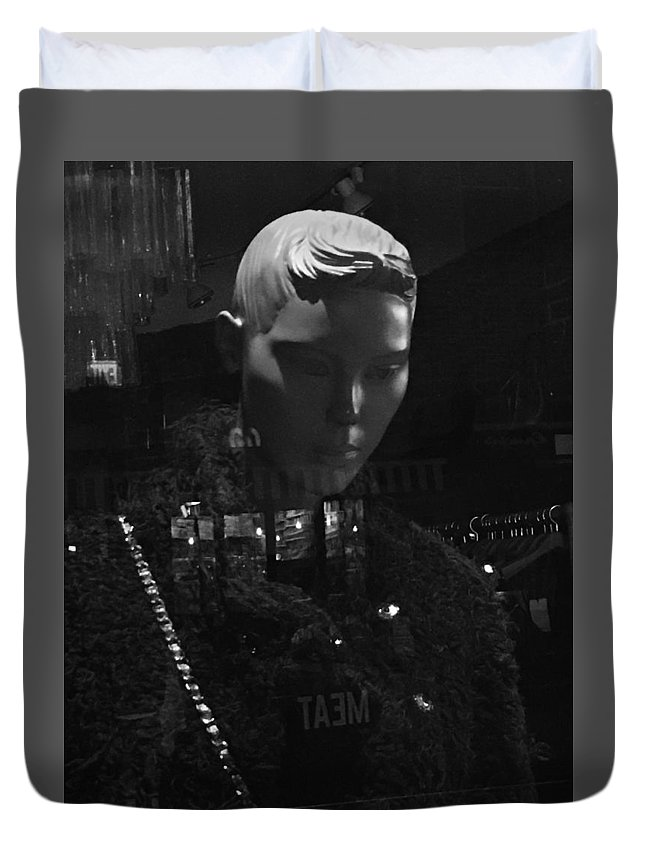 Mannequin Duvet Cover featuring the photograph Upon A Winter's Day by Mike Norkin