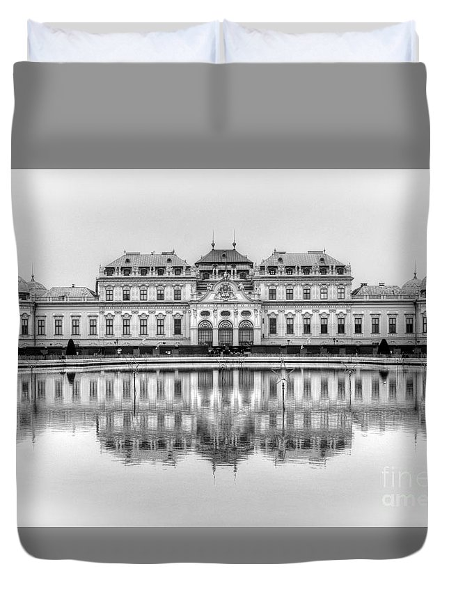 Belvedere Duvet Cover featuring the photograph Upper Belvedere Palace, Vienna by David Birchall