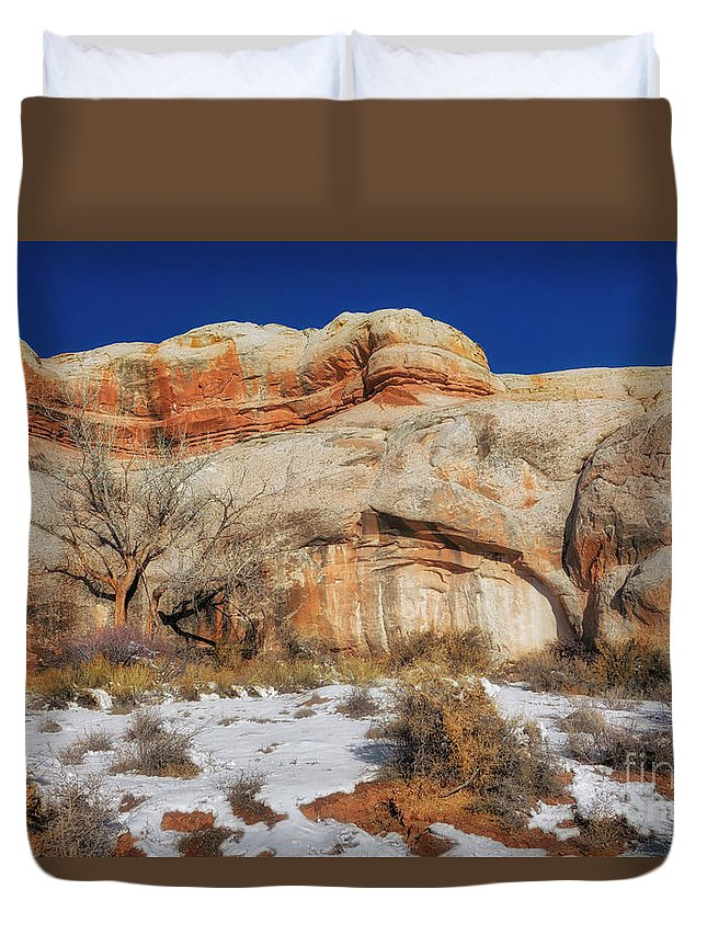 Upper Colorado River Scenic Byway Duvet Cover featuring the photograph Upper Colorado River Scenic Byway by Priscilla Burgers