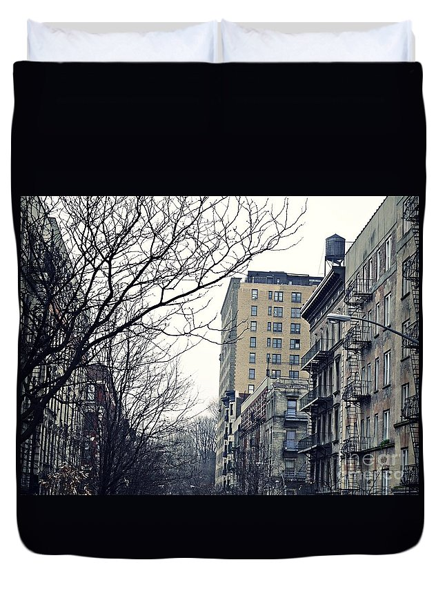 Upper West Side Winter Duvet Cover featuring the photograph Upper West Side Winter by Sarah Loft