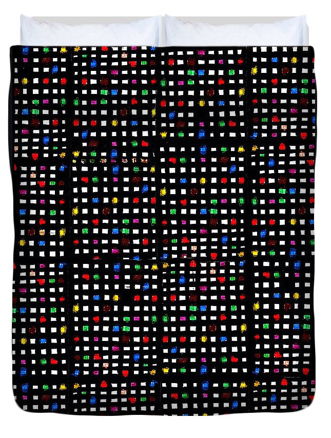 Grid Duvet Cover featuring the digital art Urb II by Andy Mercer
