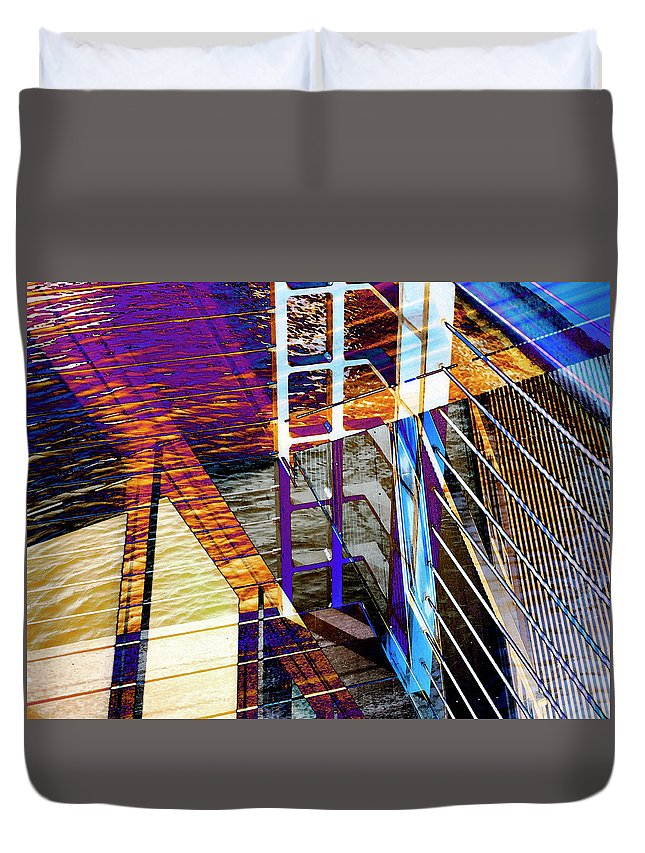 City Duvet Cover featuring the photograph Urban Abstract 224 by Don Zawadiwsky