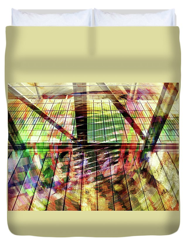 City Duvet Cover featuring the photograph Urban Abstract 369 by Don Zawadiwsky