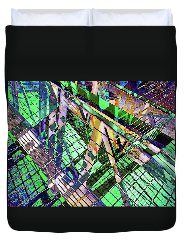City Duvet Cover featuring the photograph Urban Abstract 500 by Don Zawadiwsky