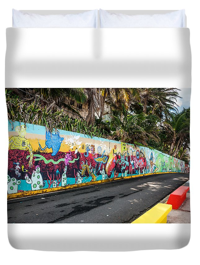 Paint Duvet Cover featuring the photograph Urban Art 3 by Jenifer Kim