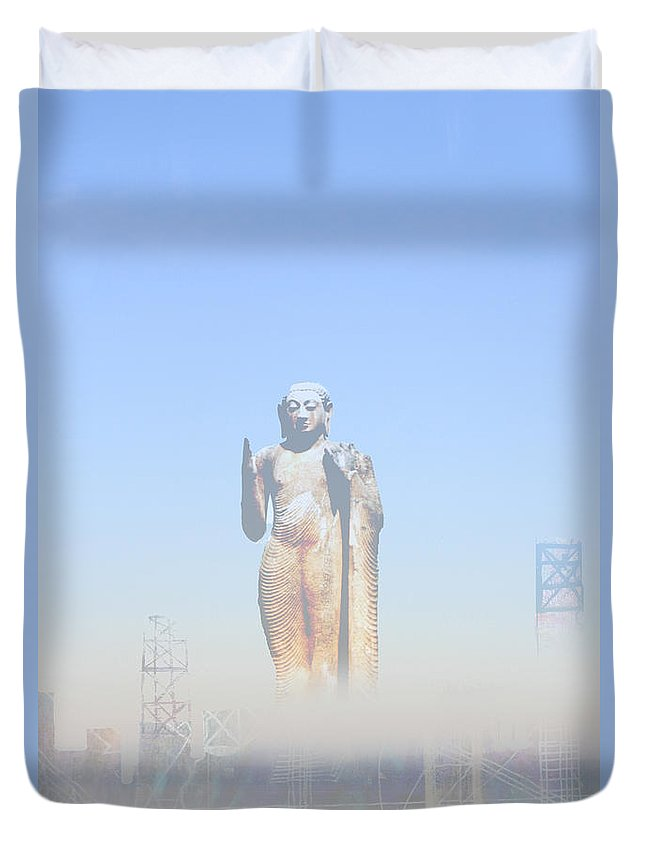 Buddha Duvet Cover featuring the photograph Urban Buddha by Andy Mercer