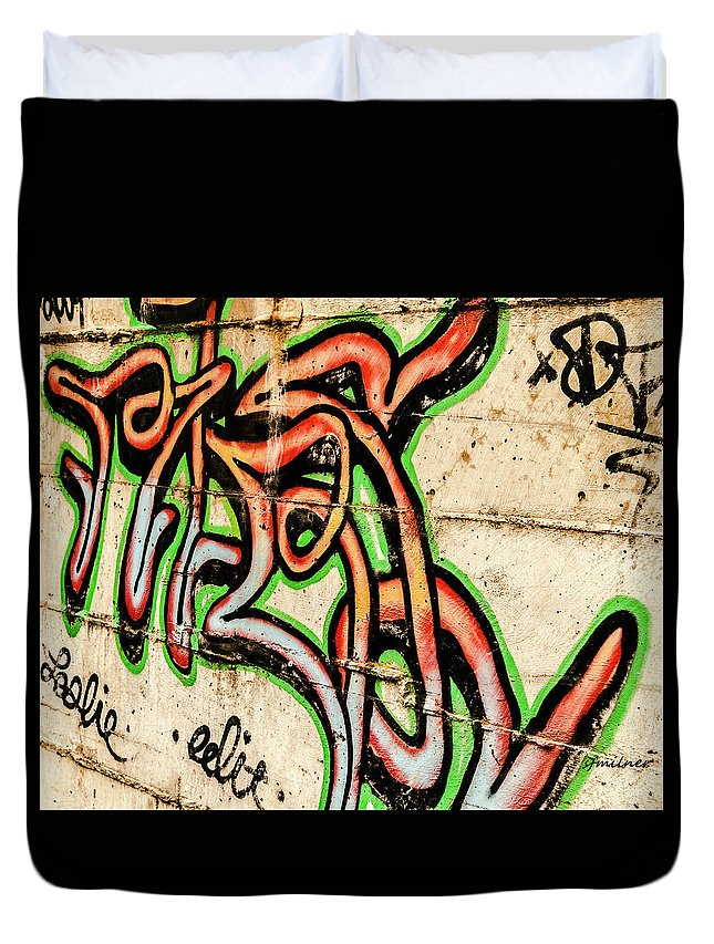 Arts Duvet Cover featuring the photograph Urban Expression by Steven Milner