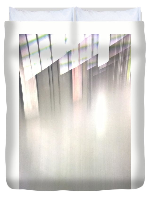 City Duvet Cover featuring the photograph Urban Light by Radka Zimova King