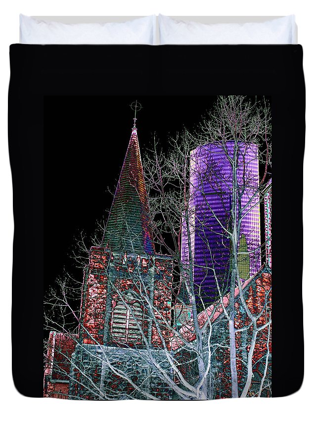 Seattle Duvet Cover featuring the photograph Urban Ministry by Tim Allen