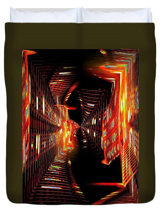 Urban Duvet Cover featuring the photograph Urban Nightlights by Tim Allen