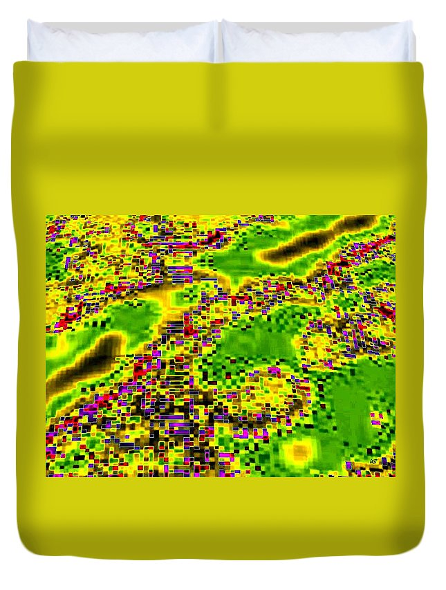 Urban Sprawl Duvet Cover featuring the digital art Urban Sprawl by Will Borden