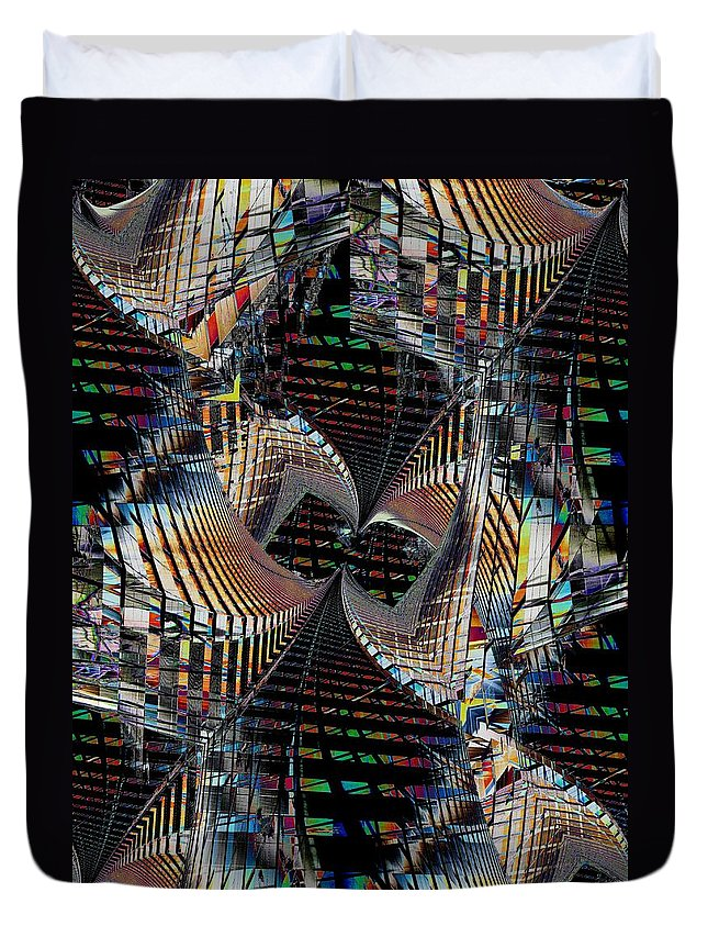 Urban Duvet Cover featuring the digital art Urban Twist And Tango by Tim Allen