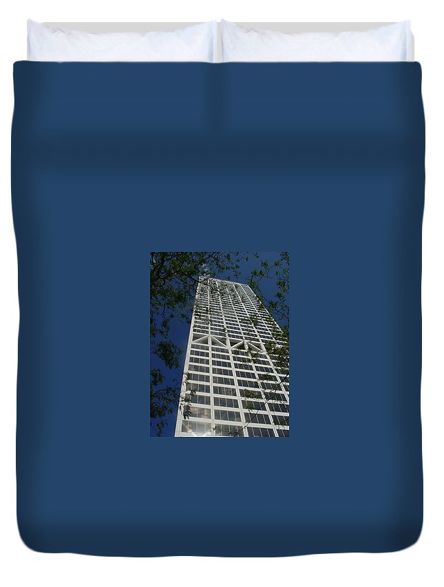 Us Bank Duvet Cover featuring the photograph Us Bank With Trees by Anita Burgermeister