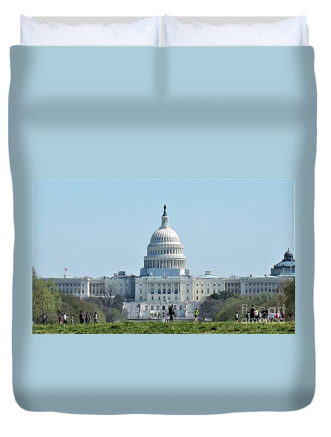 U.s. Capitol Duvet Cover featuring the photograph U.s. Capitol by Patti Whitten