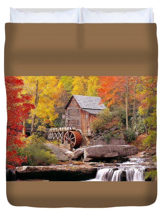 Photography Duvet Cover featuring the photograph Usa, West Virginia, Glade Creek Grist by Panoramic Images
