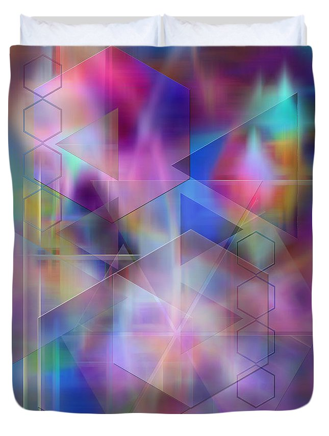Usonian Dreams Duvet Cover featuring the digital art Usonian Dreams by John Beck