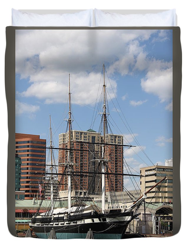 Uss Constellation Duvet Cover featuring the photograph Uss Constellation by Christiane Schulze Art And Photography