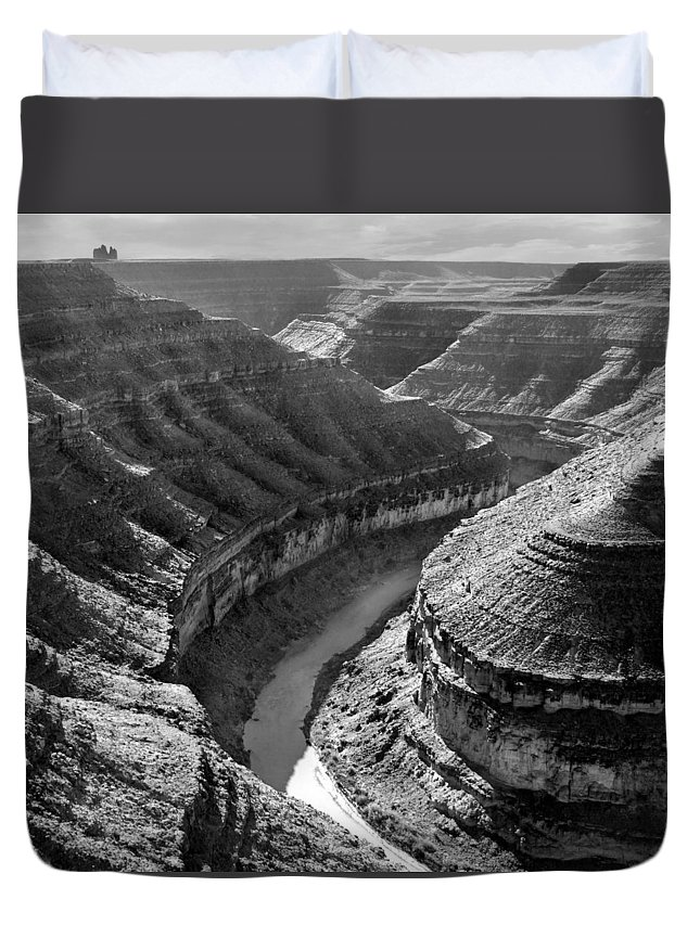 Square Duvet Cover featuring the photograph Utah Outback 15 by Mike McGlothlen