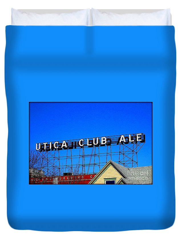 Utica Club Ale Duvet Cover featuring the photograph Utica Club Ale West End Brewery by Peter Ogden