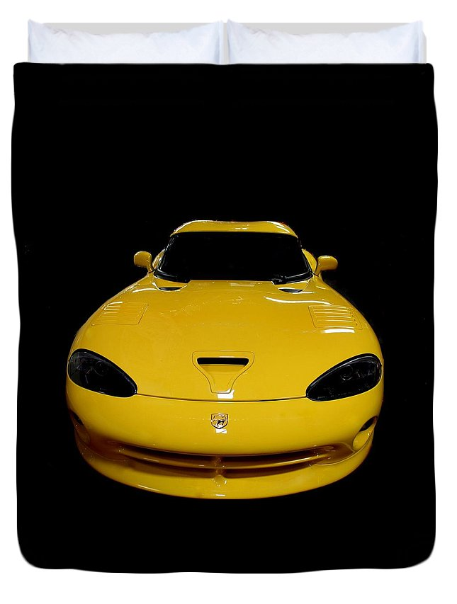 Viper Duvet Cover featuring the photograph V Is For Viper by Rosanne Jordan