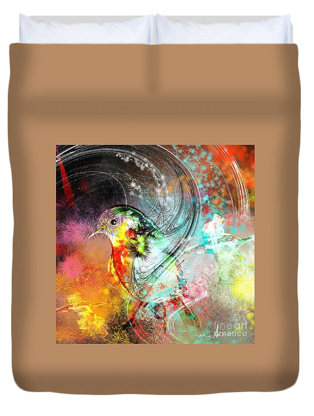 Bird Duvet Cover featuring the painting Vagabond by Miki De Goodaboom