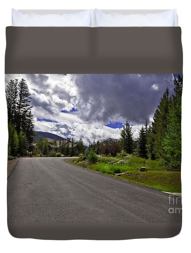 Road Duvet Cover featuring the photograph Vail Road by Madeline Ellis