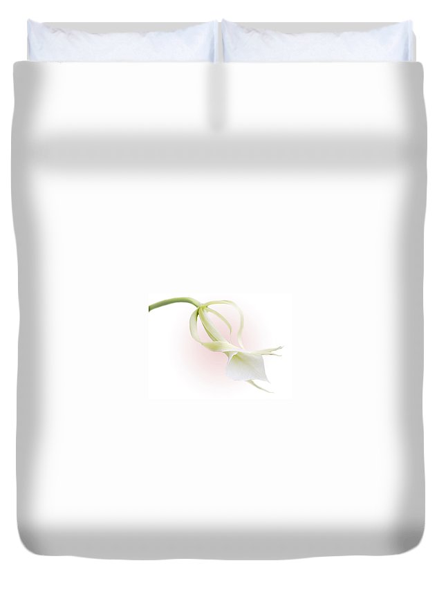 Love Duvet Cover featuring the photograph Valentine Orchid by Marilyn Hunt