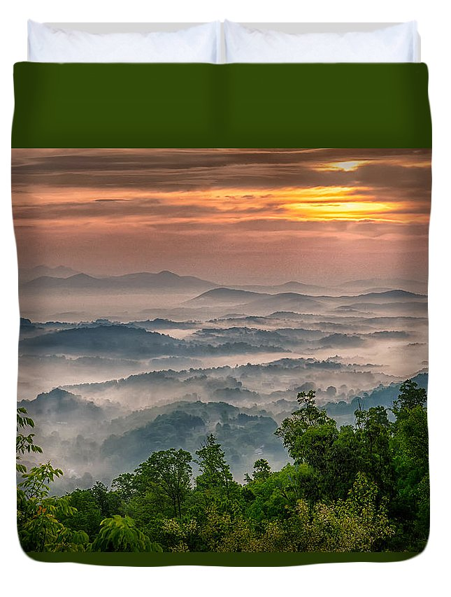 Fog Duvet Cover featuring the photograph Valley Fog by Kevin Hurley
