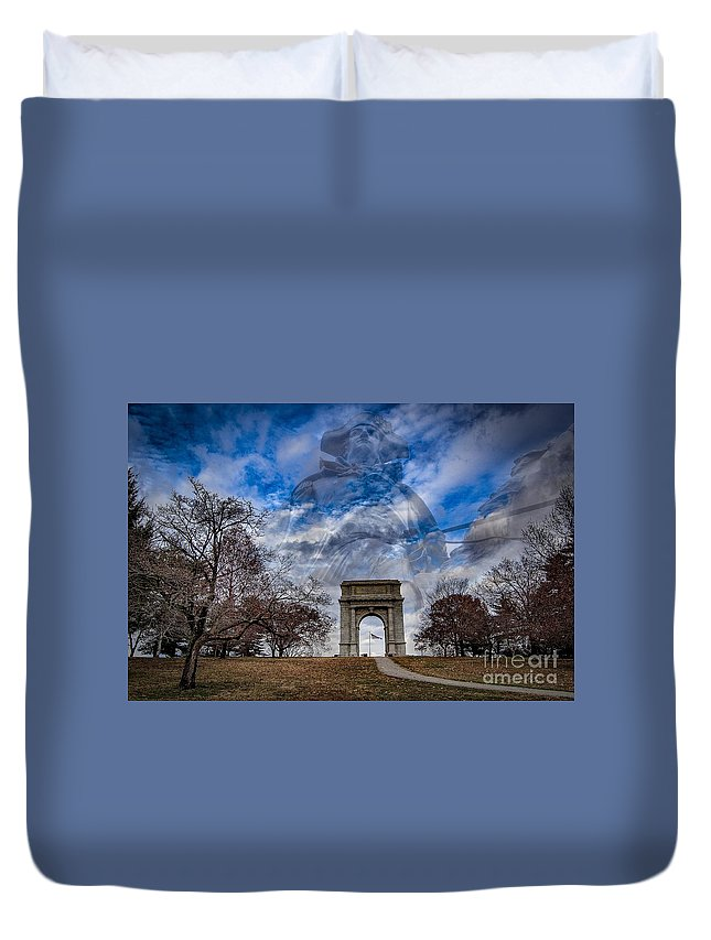Valley Forge Duvet Cover featuring the digital art Valley Forge by Anthony C Ellis