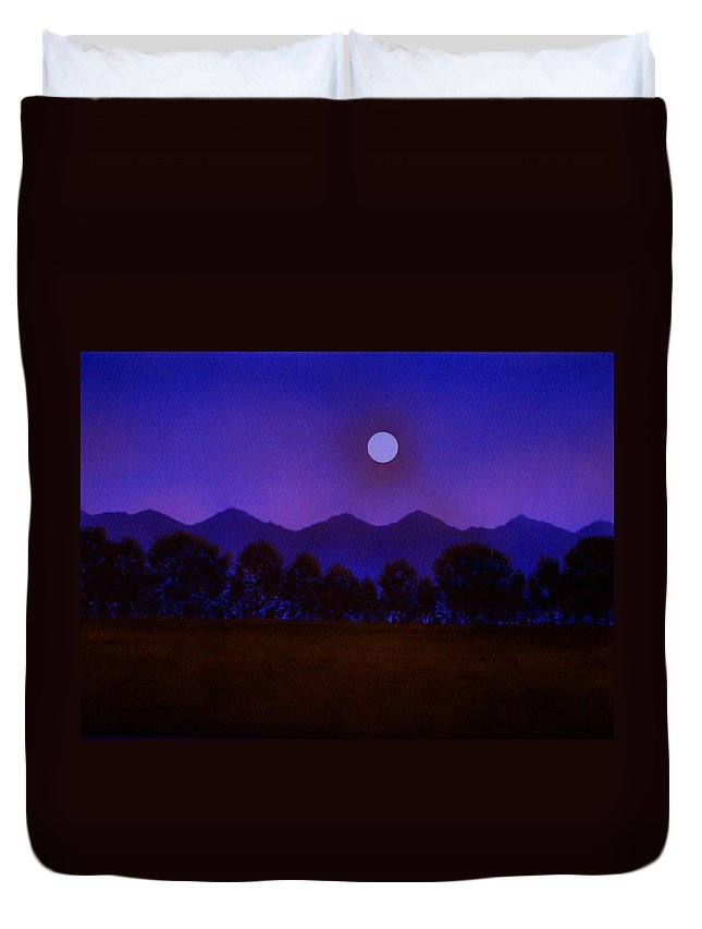 Night Duvet Cover featuring the painting Valley Light by Frank Wilson