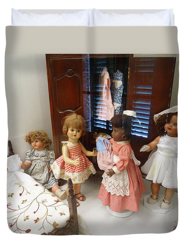 Doll Duvet Cover featuring the photograph Valley Of The Dolls by Charles Stuart