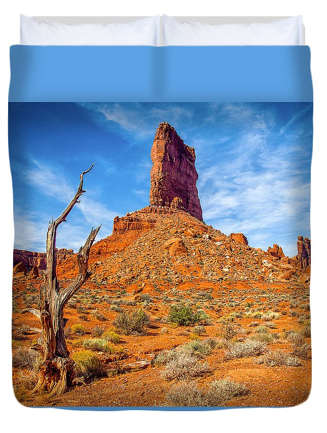 Formation Duvet Cover featuring the photograph Valley Of The Gods by Rikk Flohr