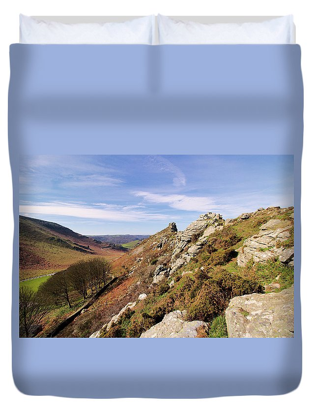 Valley Of The Rocks Exmoor Duvet Cover featuring the photograph Valley Of The Rocks by Simon J Beer