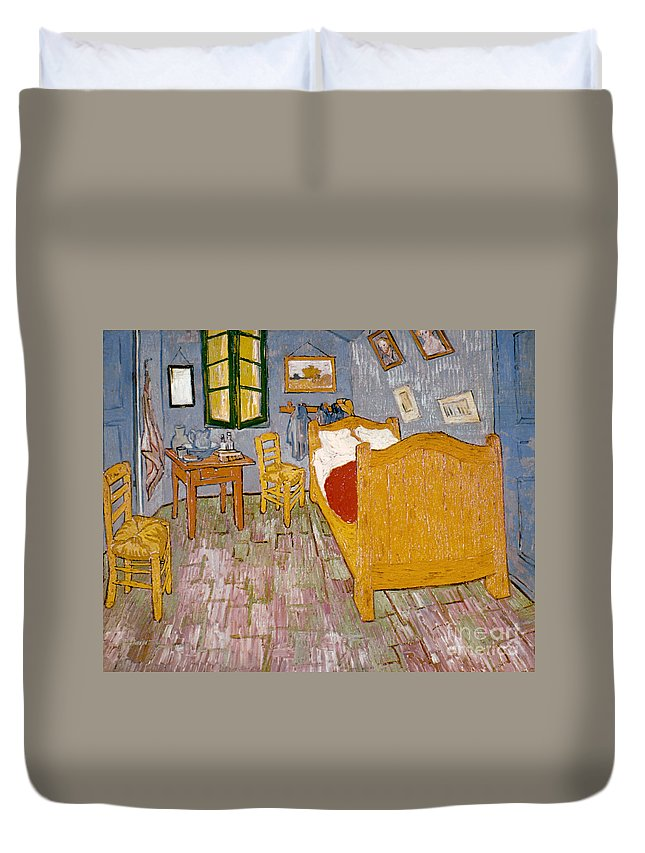 1888 Duvet Cover featuring the photograph Van Gogh: Bedroom, 1888 by Granger