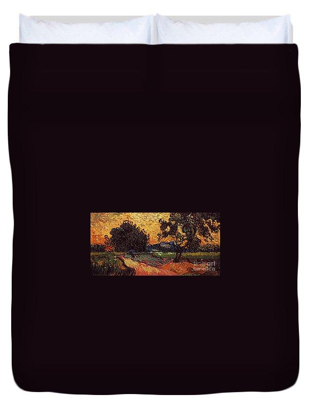 1890 Duvet Cover featuring the photograph Van Gogh: Castle, 1890 by Granger