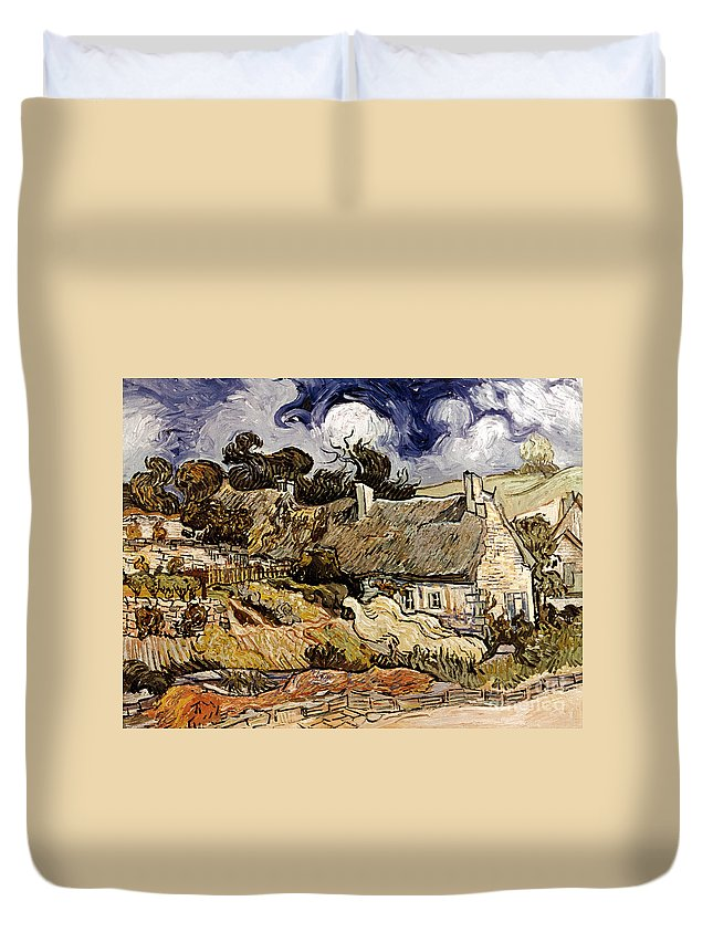 1890 Duvet Cover featuring the photograph Van Gogh: Cordeville, 1890 by Granger