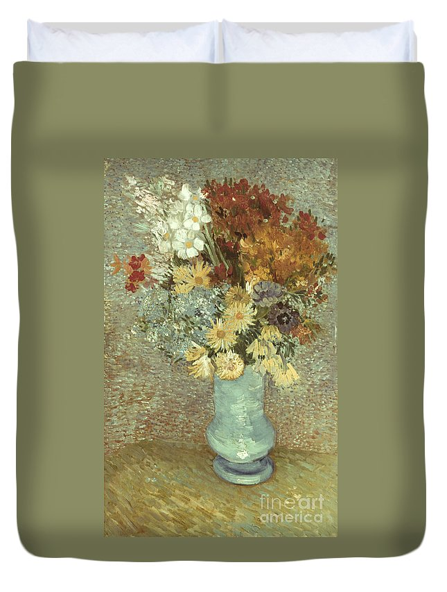 1887 Duvet Cover featuring the photograph Van Gogh: Flowers, 1887 by Granger